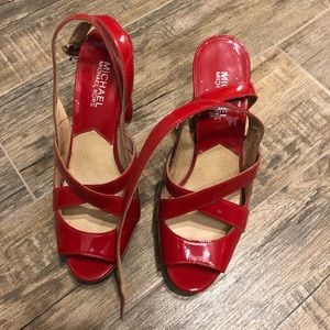 Michael Kors red heels